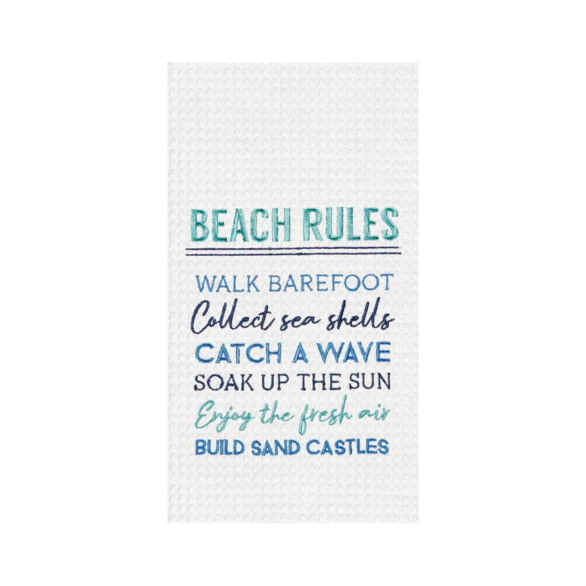 Beach Rules Kitchen Towel