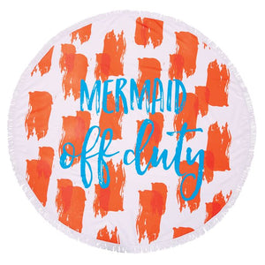 Mermaid Off Duty Round Beach Towel