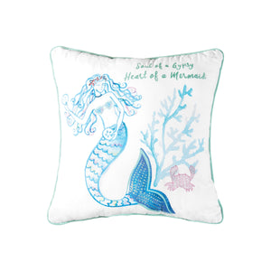 Mermaid Garden Soul Of A Gypsy Pillow