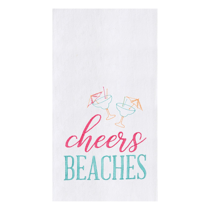 Cheers Beaches Flour Sack Towel