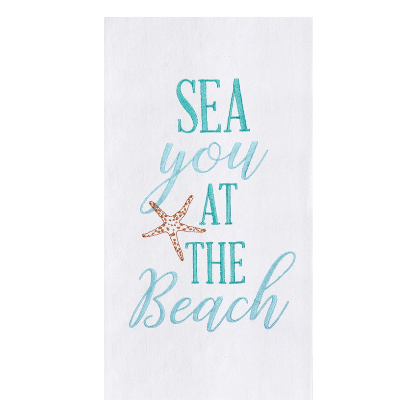 Sea you at the Beach Flour Sack Towel