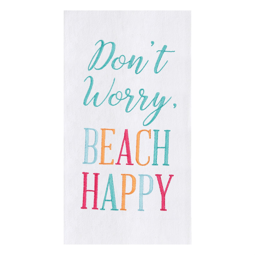 Beach Happy Flour Sack Towel
