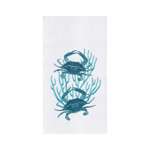 2 Blue Crabs Kitchen Towel