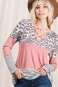 A Touch of Mauve Leopard Top
