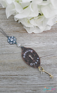 Amazing Grace Patina Spoon Necklace