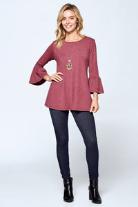 Angie Bell Sleeve Tunic- Available in 3 Colors!