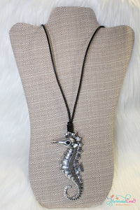 Antique Silver Seahorse Necklace