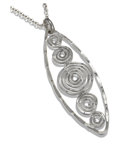 Antique Oval with Spirals Necklace