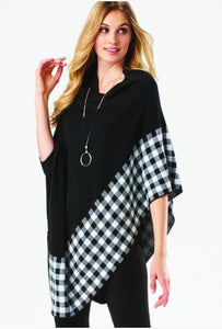 Asymmetric Poncho - Available in 2 Colors!