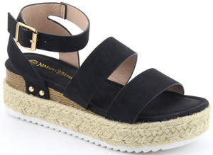 Aubree Platform Espadrille Sandal - Available in 2 Colors