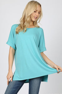 Audrey Rolled Short Sleeve Top - Available in 9 Colors!