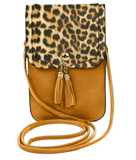 Animal Print Crossbody Cell Phone Bag - Available in 2 Colors