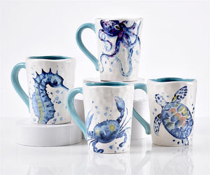 Blue Lagoon Sealife Mugs