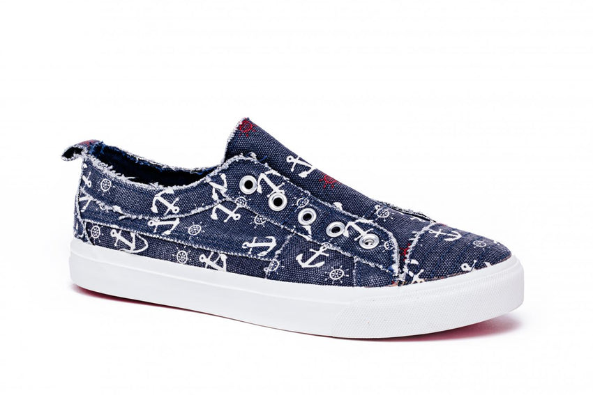 Babalu Slip On Sneakers in Anchors