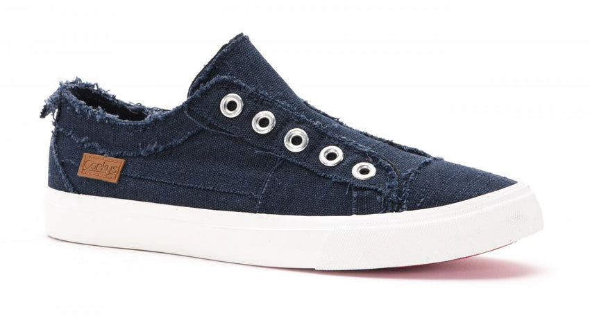 Corkys Babalu Slip On Sneakers in Navy