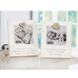 Baby Girl/Boy Magnetic Wood Frame