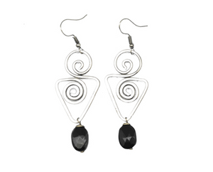 Banjara Earrings with Onyx