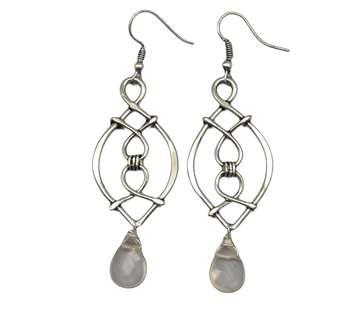 Banjara Silver Earrings with Quartz