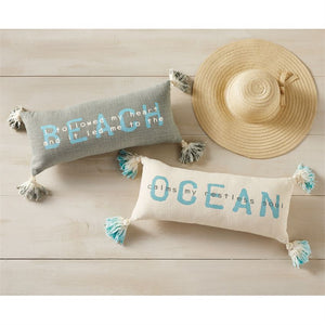 Beach & Ocean Ombre Tassel Pillows