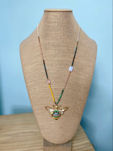 Bee Pendant Necklace & Earring Set