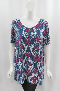 Berry Damask Top