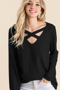 Amber Thermal Waffle Top - Available in 3 Colors