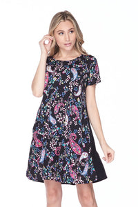 Blooming Babydoll Paisley Dress