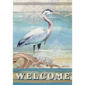 Blue Heron Flag - Large