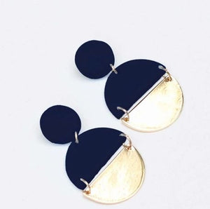 Brexley Navy Earrings
