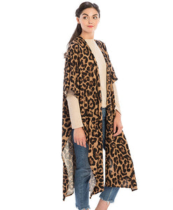 Leopard Animal Print Long Cardigan - Available in 2 Colors!