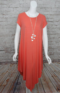 Coral Envelope Dress