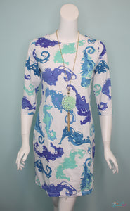 Candy Shift Dress - Seahorse