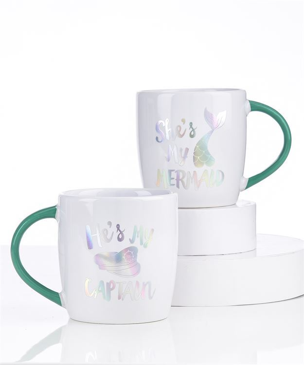 Captain / Mermaid Mug Set