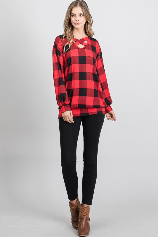 Carla Checkered Top