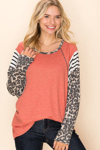 Charlie Loose Fit Coral Top