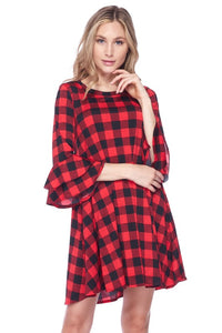 Checkered Carly Dress