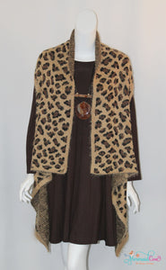 Cheetah Eyelash Vest - Available in 2 Colors!