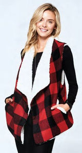 Claire Buffalo Check Vest - Available in 2 Colors!