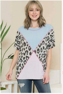 Cotton Candy Leopard Top