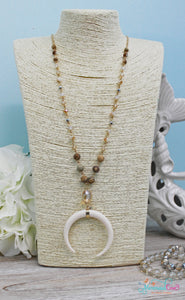 Crescent Moon Necklace & Earring Set