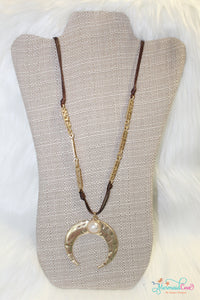 Crescent Pearl Moon Necklace