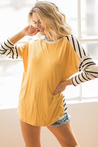 Dijon Striped Top