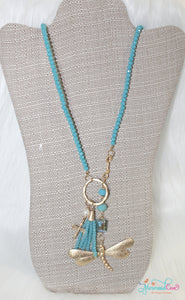 Dragonfly Necklace - Blue
