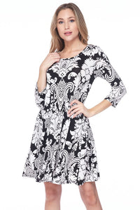 Elegant Damask Dress