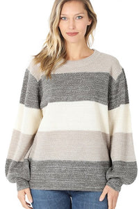 Elisabeth Striped Sweater - Available in 4 Colors
