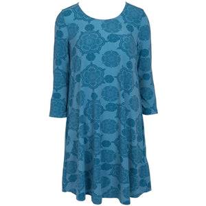 Abstract Blues Dress
