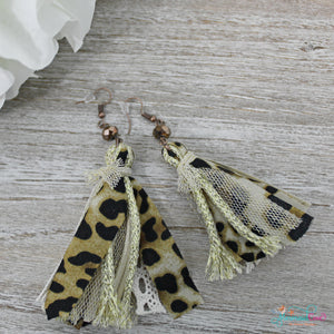 Fabric Tassel Earrings - Available in 2 Colors!