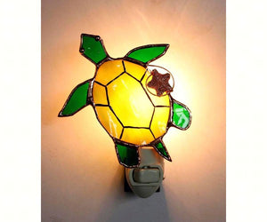 Stained Glass Sea Turtle Nightlight