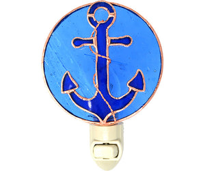 Stained Glass Anchor Nightlight