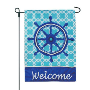 Coastal Helm Welcome Garden Flag